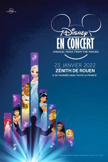 Disney en concert affiche Zénith de Rouen