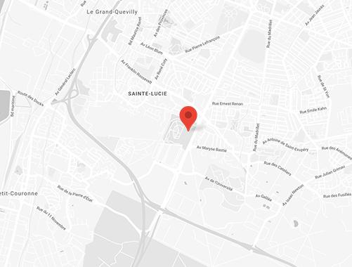 Plan accès zénith de rouen
