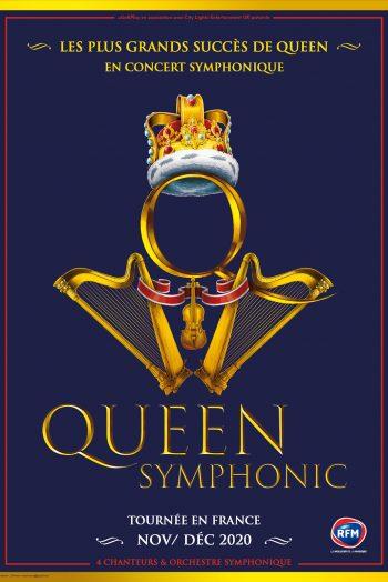 Queen symphonic affiche concert