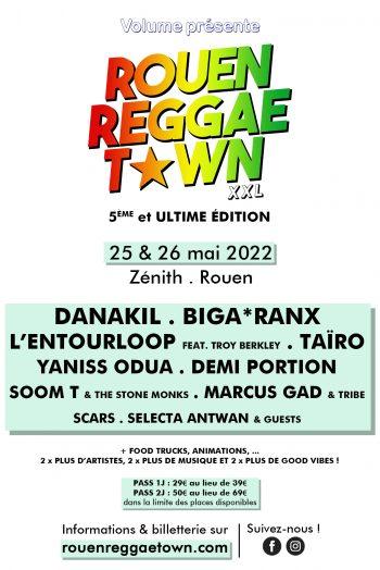 ROUEN REGGAE TOWN XXL #5 zénith de rouen concert festival